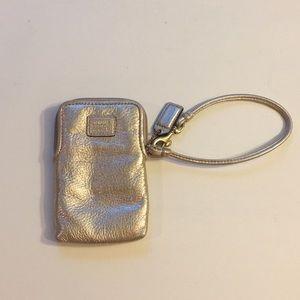 Coach Phone Wallet (light gold)